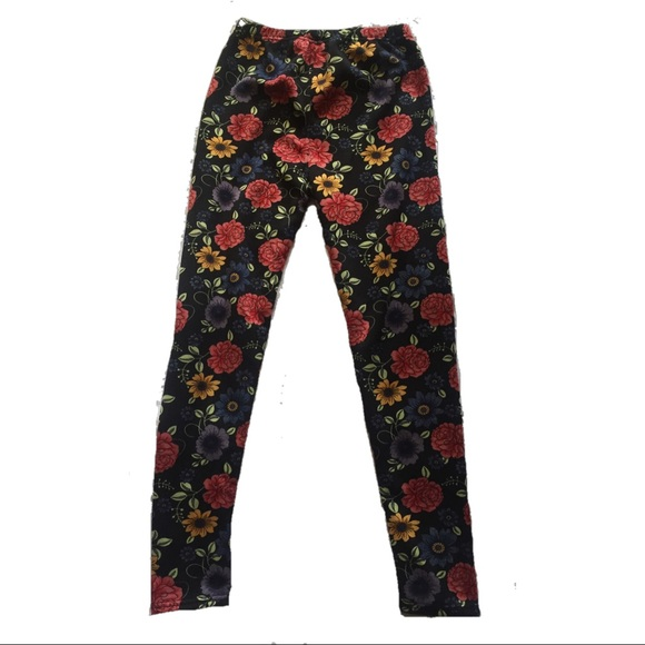 8dc27c26654d5 IPP Pants | Brand New With Tags Cozy Floral Leggings | Poshmark